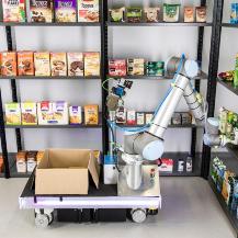 Die SeRoNet-Plattform eröffnet ganz neue Geschäftsmodelle für gewerbliche Serviceroboter wie beispielsweise mobile Systeme in der Logistik.  Rainer Bez / Fraunhofer IPA