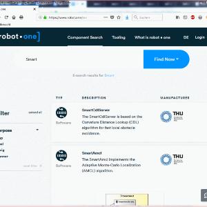 Angemeldete und unangemeldete Besucher der Plattform können den Komponentenkatalog durchsuchen und allgemeine Angaben zu den Komponenten abrufen.