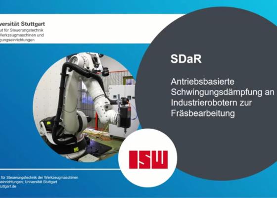 Vorschau-BildSDaR - Antriebsbasierte Schwingungsdämpfung an Industrierobotern zur Fräsbearbeitung